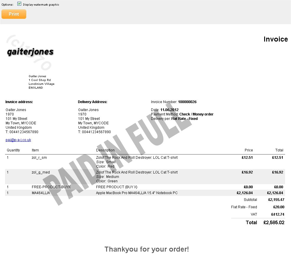 Create A Paypal Invoice Word Free Customiseable Printable Html Invoice For Magento Staples Return Policy Without Receipt Pdf with Receipt Folder Word Customiseable Printable Html Invoice For Magento Letter For Receipt Of Payment Excel